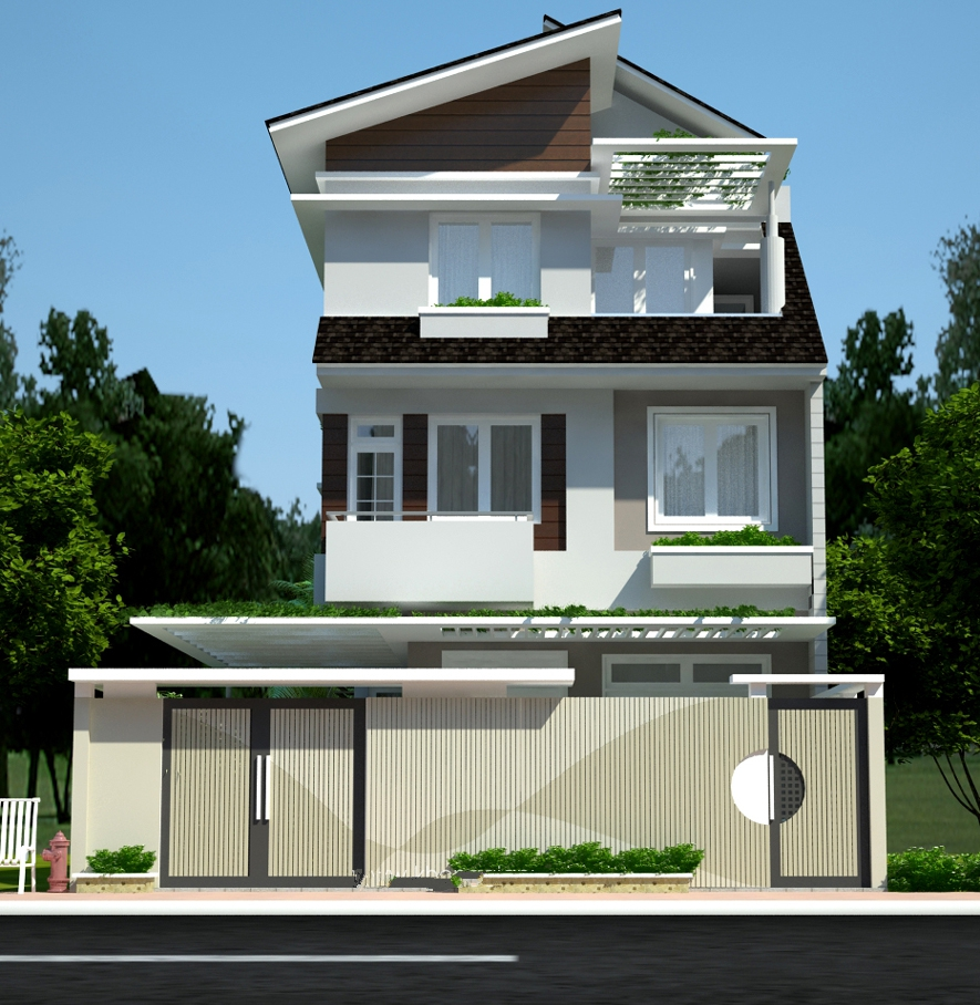 mẫu nhà đẹp 2 tầng rộng 8m cuong quang - Bộ sưu tập những thiết kế nhà đẹp nhất
