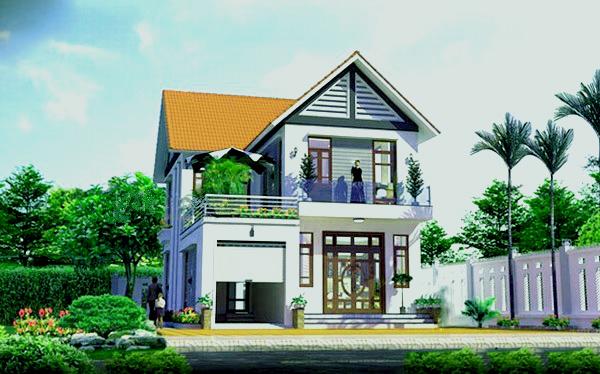 mẫu nhà đẹp 2 tầng rộng 8m - Tư vấn thiết kế mẫu nhà 2 tầng nông thôn
