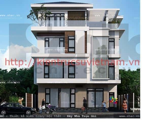 mat tien rong cua biet thu pho sh btd 0034 - Thiết kế nhà phố mặt tiền rộng 10m