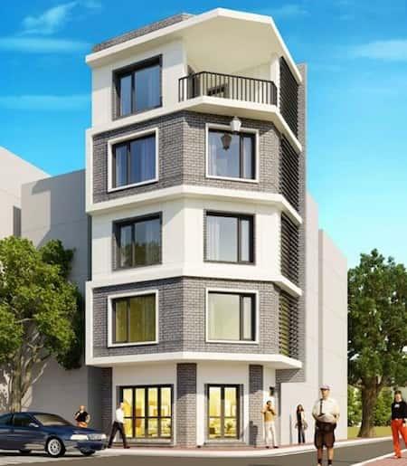 mau nha 2 mat tien dep 1 - 45 Mẫu nhà đẹp hai mặt tiền với kiến trúc hiện đại