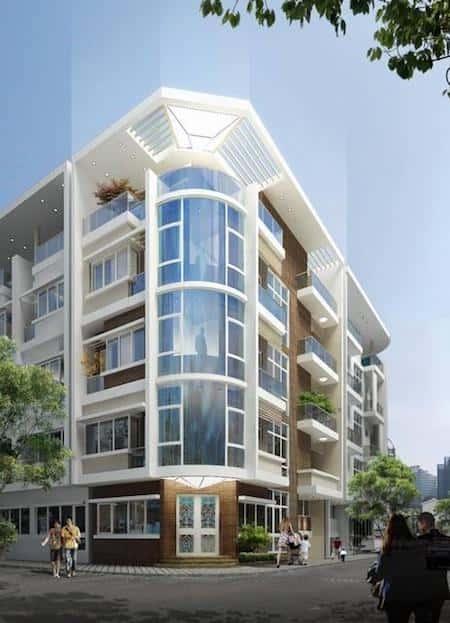 mau nha 2 mat tien dep 10 - 45 Mẫu nhà đẹp hai mặt tiền với kiến trúc hiện đại