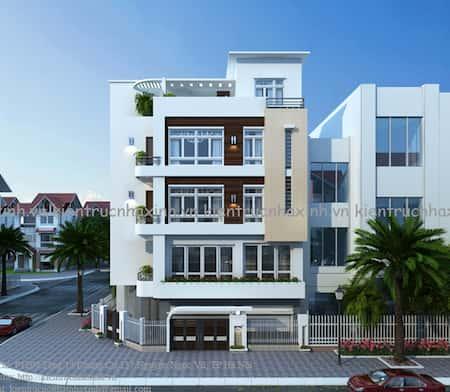 mau nha 2 mat tien dep a - 45 Mẫu nhà đẹp hai mặt tiền với kiến trúc hiện đại