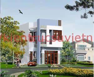 mau nha 2 tang dep 0012 300x247 - Thiết kế nhà 2 tầng 5x15m đẹp