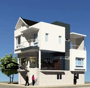 mau nha dep 7x10m 300x294 - thiết kế nhà 2 tầng 7x10m