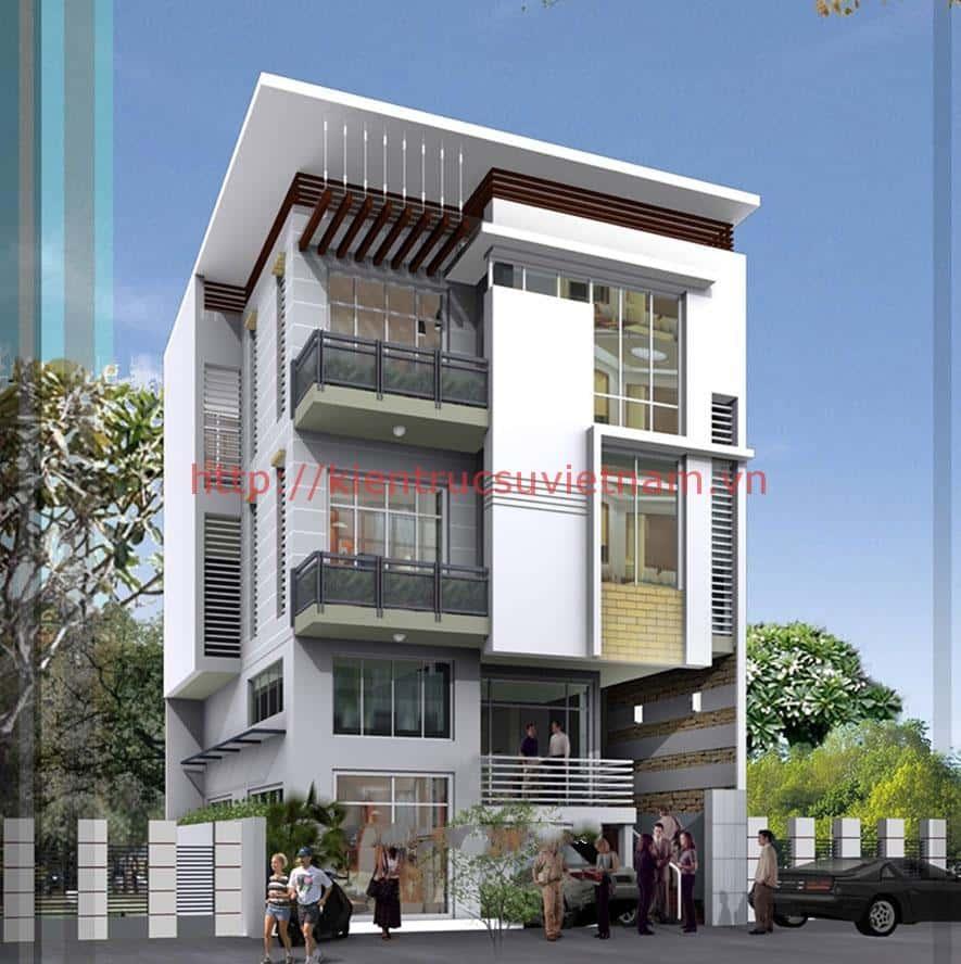 mau nha pho dep 3 tang dien tich 6x14m - Thiết kế nhà phố mặt tiền rộng 10m