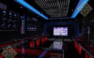 mau thiet ke karaoke hien dai voi he thong den led an tuong 300x185 - Bộ sưu tập những mẫu thiết kế quán karaoke đẹp