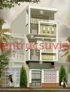 mau thiet ke nha 3 tang dep 500 227x300 - Tư vấn thiết kế nhà 3 tầng mặt tiền 6,5m
