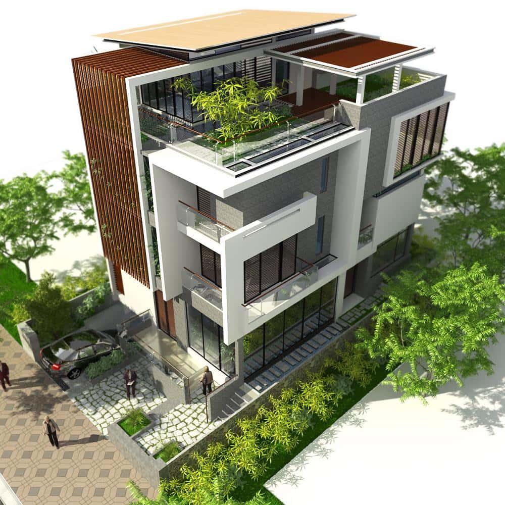 mau thiet ke nha dep 001 - Thiết kế nhà đẹp ở tại Cần Thơ