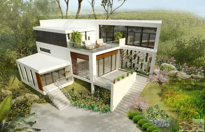 mau thiet ke nha dep 002 - Thiết kế nhà ở đẹp tại Vinh