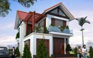 nhà 2 tầng hiện đại 8×12
