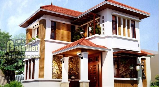nhà 2 tầng hiện đại 8×12 kong - Thiết kế nhà 2 tầng hiện đại 8×12m đẹp