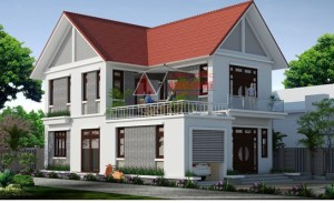 nhà 2 tầng hiện đại 8×12-long