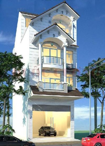nhà 3 tầng có gara oto đẹp 089 - Thiết kế nhà Đà Nẵng