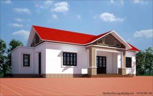 nhà cấp 4 ms001 300x189 - Mẫu thiết kế nhà cấp 4 đẹp và có gác lửng