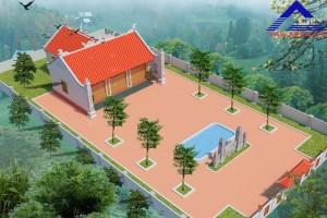 nhà tho ho co hau cung ds 300x200 - Thiết kế nhà thờ họ có hậu cung