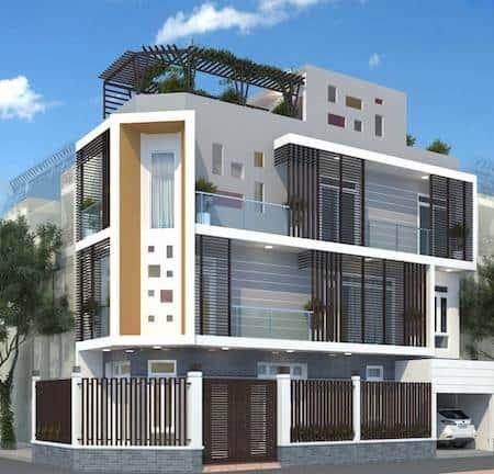 nha 2 mat tien dep 2 - 45 Mẫu nhà đẹp hai mặt tiền với kiến trúc hiện đại