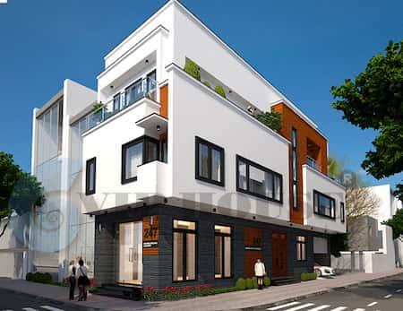 nha 2 mat tien dep 3 - 45 Mẫu nhà đẹp hai mặt tiền với kiến trúc hiện đại