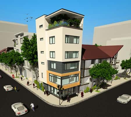 nha 2 mat tien dep 7 - 45 Mẫu nhà đẹp hai mặt tiền với kiến trúc hiện đại