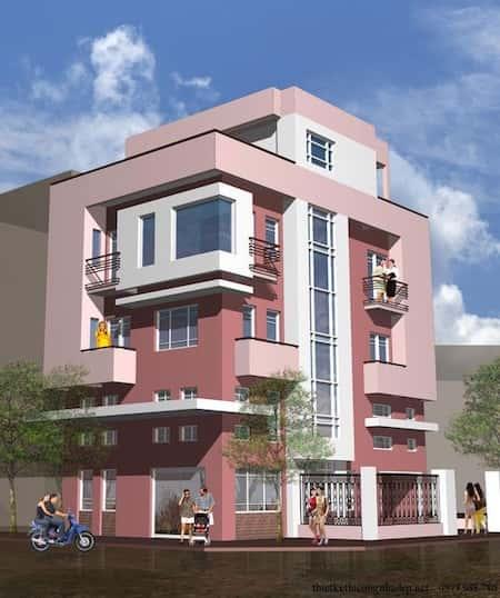 nha 2 mat tien dep 9 - 45 Mẫu nhà đẹp hai mặt tiền với kiến trúc hiện đại