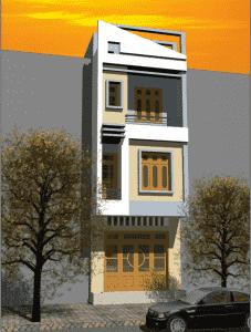 nha 2 tang co tum 05 227x300 - Tư vấn mẫu nhà đẹp 2 tầng 1 tum