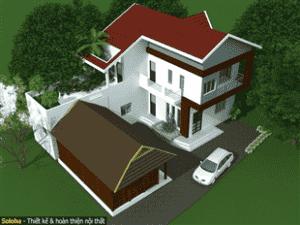 nha 2 tang dien tich 100m2 chi huyen 300x225 - Tư vấn thiết kế nhà 2 tầng hiện đại diện tích 100m2