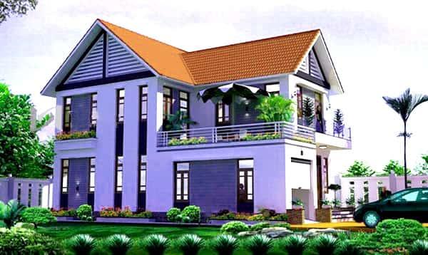 nha 2 tang dien tich 100m2 ms01 - Tư vấn thiết kế nhà 2 tầng hiện đại diện tích 100m2