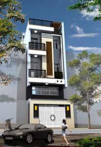 nha 3 tang co tum3 208x300 - thiết kế nhà 3 tầng 4x12m