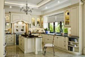 nha bep co dien 300x200 - Thiết kế nội thất bếp - Ý tưởng táo bạo để khẳng định đẳng cấp