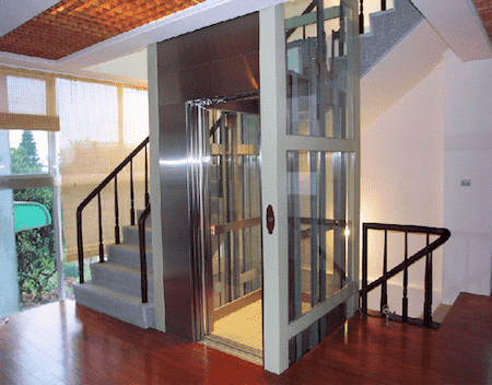 nha co thang may 6 - 20 Mẫu thiết kế nhà ống có thang máy đẹp với kiến trúc hiện đại