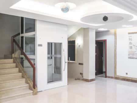 nha co thang may dep 7 - 20 Mẫu thiết kế nhà ống có thang máy đẹp với kiến trúc hiện đại