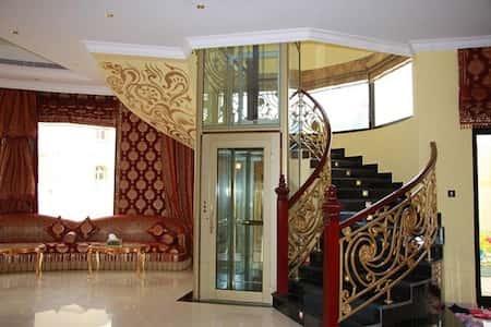 nha co thang may dep 8 - 20 Mẫu thiết kế nhà ống có thang máy đẹp với kiến trúc hiện đại