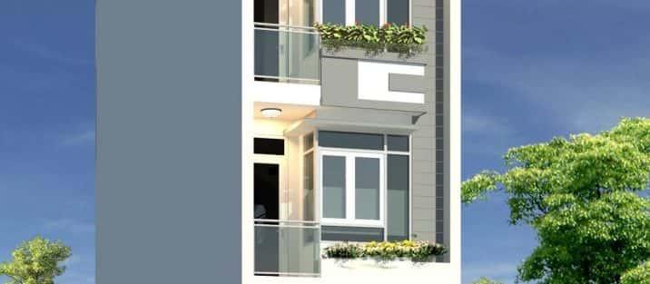 Mẫu thiết kế nhà phố 4x17m