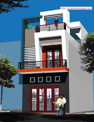 nha mat tien rong 5m dep npr5md1 - Mẫu thiết kế nhà phố 5x19m