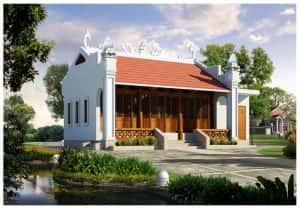 nha tho ho 300x209 - Bản vẽ thiết kế nhà thờ họ đẹp