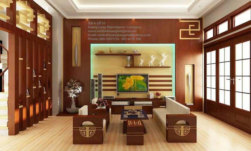noi that phong khach bang go hien dai nhat hien nay 3 - Thiết kế nội thất phòng khách đẹp