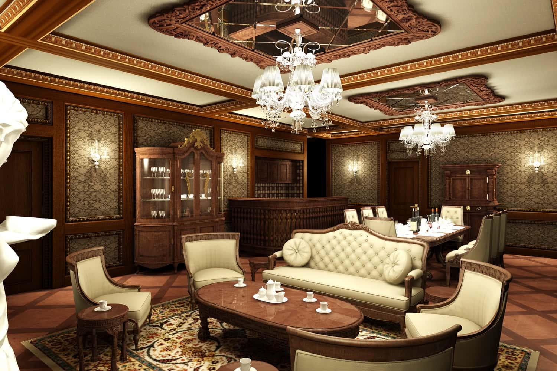noi that phong khach co dien 1 - Thiết kế nội thất phòng khách - 4 bước đơn giản tạo nên không gian đẹp