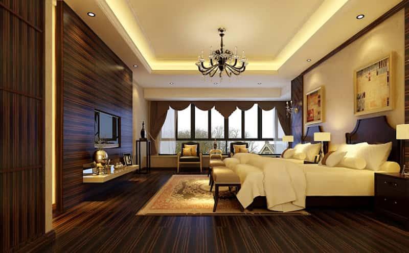 nội thất biệt thự 2 tầng mái thái