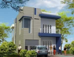 phoi canh nha pho 2 tang 7.6x16m 300x229 - Mẫu thiết kế nhà phố 2 tầng 5x20m