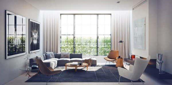 Thiết kế thi công nội thất phòng khách đẹp