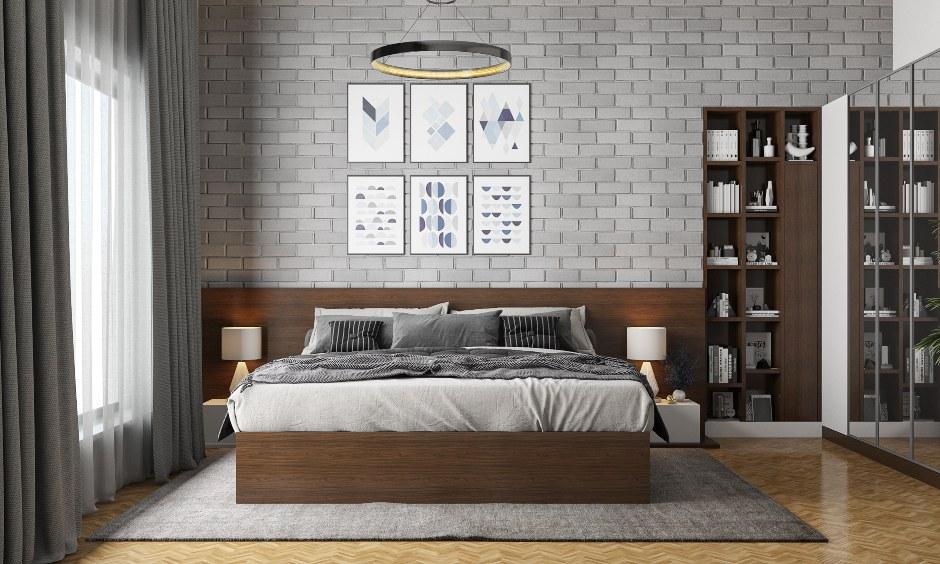 phong ngu hien dai tuong gach - Thiết kế nội thất phòng ngủ đẹp