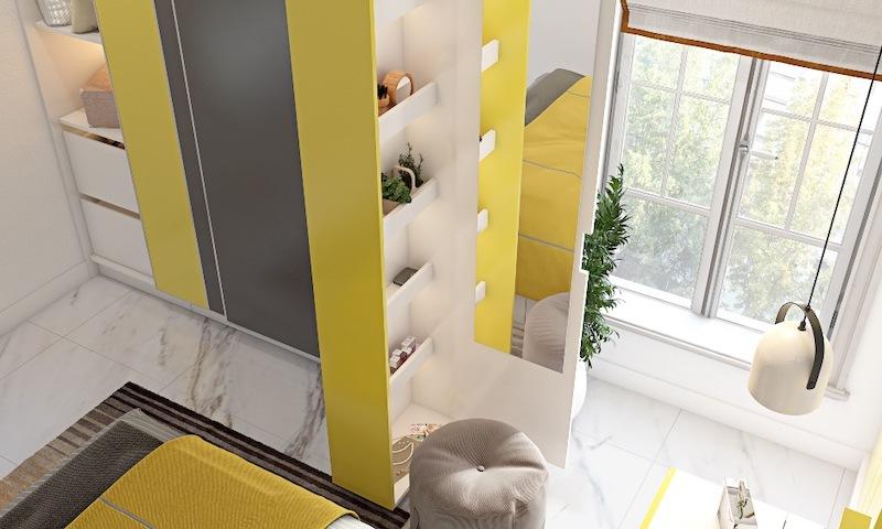 phong ngu mau vang 1 - Thiết kế nội thất phòng ngủ đẹp