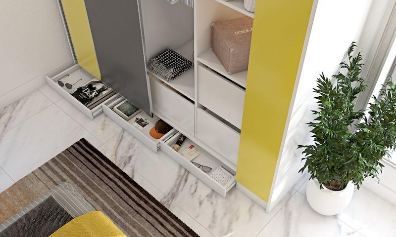 phong ngu mau vang 2 - Thiết kế nội thất phòng ngủ đẹp