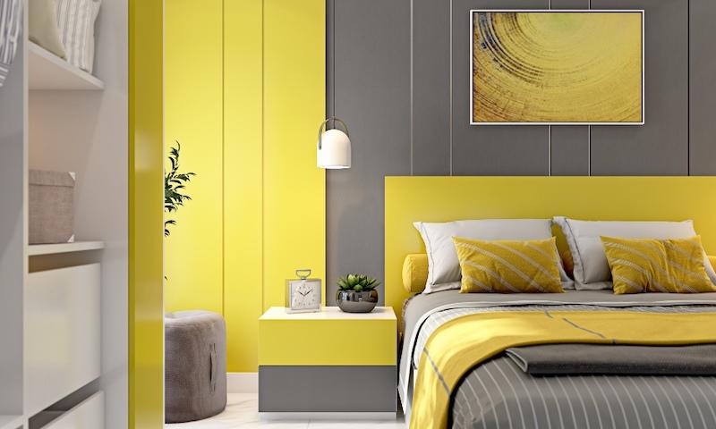 phong ngu mau vang 3 - Thiết kế nội thất phòng ngủ đẹp