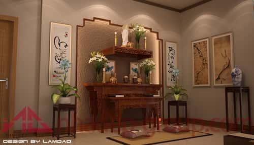 phong tho biet thu can tho 2 - Thiết kế nội thất phòng thờ