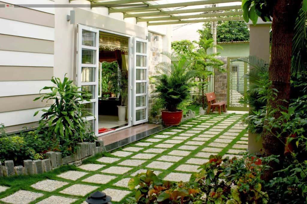 san vuon dep - Xây biệt thự sân vườn 450m đẹp với kiến trúc hiện đại