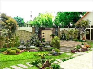 san vuon tieu canh 3 300x225 - Tư vấn thiết kế sân vườn tiểu cảnh hòn non bộ đẳng cấp