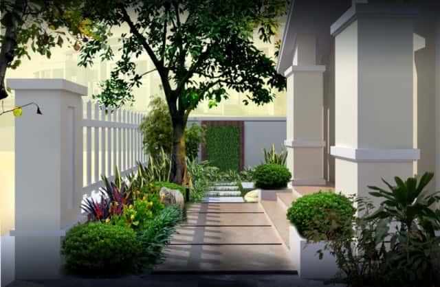 san vuon tieu canh dep anh mai - Xây biệt thự sân vườn 450m đẹp với kiến trúc hiện đại