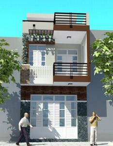 thiết kế nhà 2 tầng 4×18m