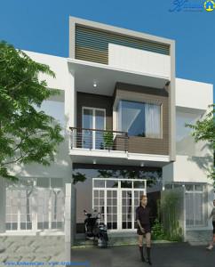 thiết kế nhà 2 tầng 4×18m ddepj