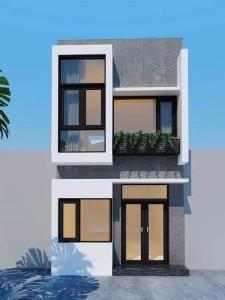 thiết kế nhà 2 tầng 4×18mc